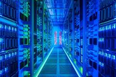 5G, server room at Vodafone